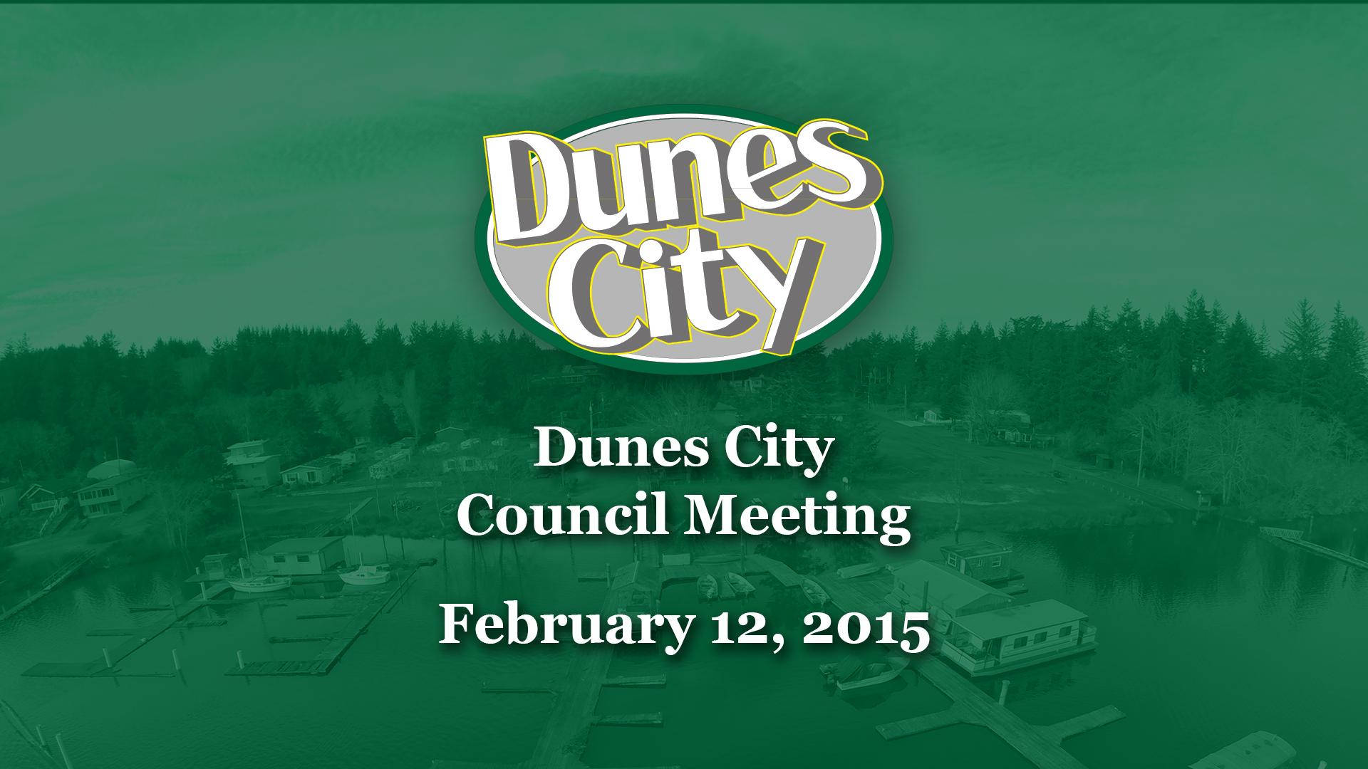 Dunes City Council Meeting – 2-12-2014